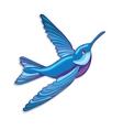 Blue hummingbird vector