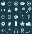 Sport color icons on blue background vector