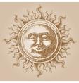 Old-fashioned sun decoration vector