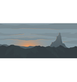 Sunset landscape vector