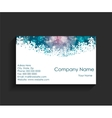 Company business card on black background vector