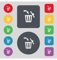 Recycle bin sign icon bins symbol set colourful vector