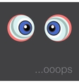 Background with cartoon eyes eps 10 vector