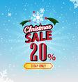 Christmas sale 20 percent typographic background vector