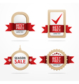 Paper banner price tag with ribbon vector