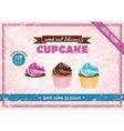 Retro cupcake poster vector