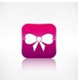 Gift christmas bow web icon application button vector