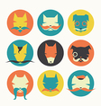 Set of stylized animal avatar bright dogs vector