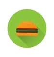 Flat fast food icon vector