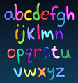 Lower case colorful spaghetti alphabet vector
