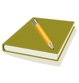 Pencil and note pad vector