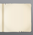 Old opened book pages background vector