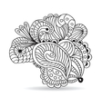 Black and white hand drawn ornament vector