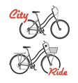 City bicycles vector
