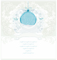 Christmas framework style with bauble card vector