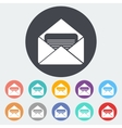 Envelope flat icon vector