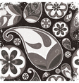 Vintage grunge paisley wallpaper vector