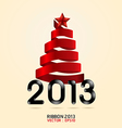 2013 ribbon abstract xmas tree vector