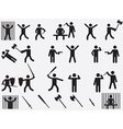 People with lethal weapons vector