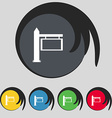Information road sign icon sign symbol on five vector