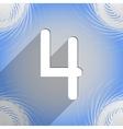 Number four icon symbol flat modern web design vector