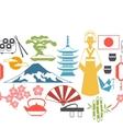 Japan seamless pattern vector