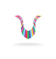 Letter u colorful logo vector