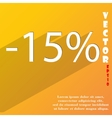15 percent discount icon symbol flat modern web vector