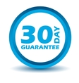 Blue guarantee icon vector