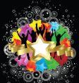 Retro party stars vector