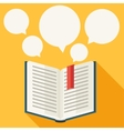 Education background with books in flat design vector