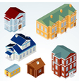 Isometric houses vector