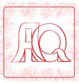 Aq monogram vector