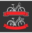 Bicycles and ribbons vector