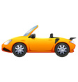 A yellow sports car vector