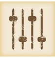Grungy console faders icon vector