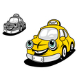 Cartoon yellow taxi vector