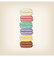 Stack of cute macaroons vector