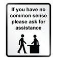 Common sense information sign vector