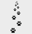 Ootprints of dogs 2 vector