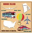 Flat map of rhode island vector