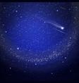 Starry sky background vector