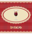Vintage card-invitation-with coffee vector