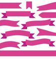 Set of violet ribbons vector