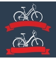 Bicycles and ribbons vector