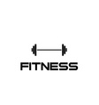 Barbell fitness vector
