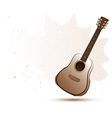 Acoustic guitar in water color style vector