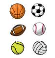 Kids sports balls vector
