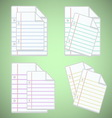 Note paper sheet with colorful lines vector