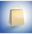 Paper shopping bag on blue background vector